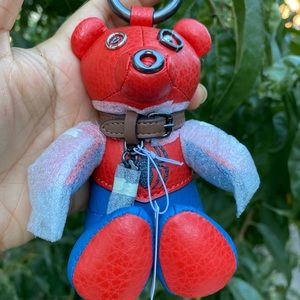Coach Marvel Spiderman Bear Charm, keychain